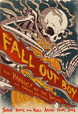"FALL OUT BOY/PANIC! AT THE DISCO ""SAVE R & R ARENA TOUR 2013"" USA CONCERT POSTER"