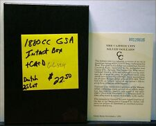 1880-CC GSA INTACT BOX AND CARD -NO COIN-  ID#GG324