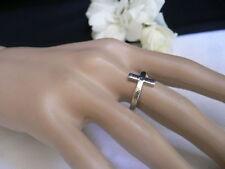 Women Metallic Silver Ring Small Religious Mini Cross Metal Elastic Band Classic