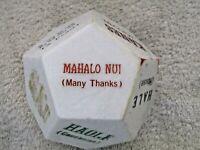 Vintage 1960's Paperweight w/ Hawaiian Words & Sayings, Plastic Geometric