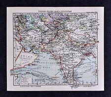 c1925 Taschen Atlas Map India Nepal Tibet Afghanistan Iran Persia China Asia