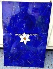 4'x2' Marble Random Lapis Lazuli Table Top Inlaid Furniture & FREE Jewellery Box