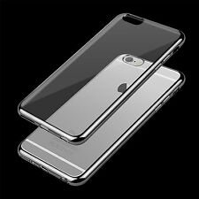 Shockproof Clear Soft Silicone TPU Case Cover for iPhone Samsung+Glass Protector