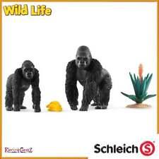 Schleich Wild Life Gorillas Foraging inc 2 Figures and Accessories