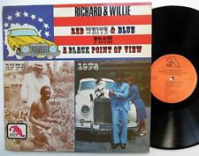 RICHARD & WILLIE Red white & blue from a black point of view LP comedy LAFF 1972