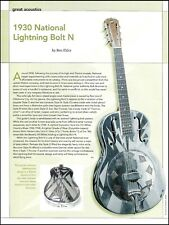 1930 National Resonator Lightning Bolt N guitar history 2006 pin-up article
