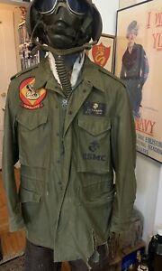 Vintage Named M-1951 Field Jacket US Military USMC Regular Medium. UK 5