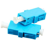 100pcs Fiber Optic Connector Flange LC/PC Singlemode Simplex Adapter Coupler