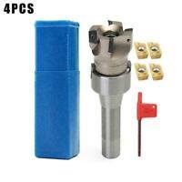 4X APMT1604 Carbide Inserts + R8 Shank Arbor + 400R Durable W0O9 50MM M5P8 Y9U7