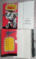 BIGLIETTO INVITO/BIRTHDAY CARD VINTAGE 93 TRANSFORMERS G2-AUTOBOT G1 ROBOT JAZZ