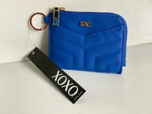 NEW! XOXO BLUE CARD CASE / KEY HOLDER / COIN PURSE WALLET SALE