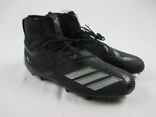 NEW adidas Adizero 5-Star 7.0 - Black/Gray Cleats (Men's 10)
