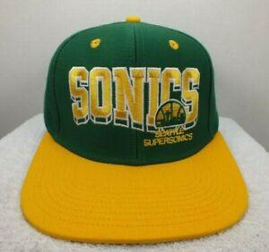 Seattle Supersonics NBA Retro Snapback Hat Cap 2 Tone Green  One Size Adidas NEW