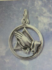 SOBRIETY JEWELRY - TRIANGLE PRAYING HANDS BRACELET PENDANT - STERLING SILVER