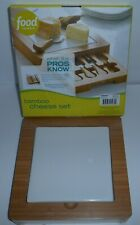 Food Network Bamboo Cheese Set With Knife Drawer Heavy Over 4.5lbs New Old Stock