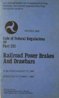 Train Employee 1982 Booklet Code of Federal Regulations Railroad Power Brakes