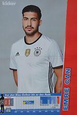 EMRE CAN - A3 Poster (ca. 42 x 28 cm) - Fußball EM 2016 Clippings Sammlung NEU