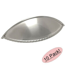 *10 Pack* Satin Nickel Cabinet Hardware Rope Bin Cup Pull #9237SN