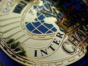 WWF INTERCONTINENTAL IC OVAL CHAMPIONSHIP BELT 4MM zinc