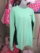 Victorias Secret Pink GRAPHIC  CAMPUS SIDE MESH Crew Sweatshirt TUNIC  NWT S