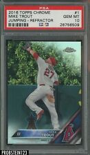 2016 Topps Chrome Refractor Mike Trout Angels Jumping PSA 10 GEM MINT