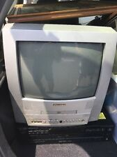 Sylvania 13 Inch Color TV DVD Combo White Television.