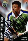 ✺Signed✺ 2004 CANBERRA RAIDERS NRL Card SIMON WOOLFORD Daily Telegraph