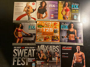 Set Of 10 DVD - 4 21 DAY FIX, 1 LesMills, 2 Insanity, 1 Turbo fire, 1 Nutrition