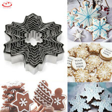 9pcs Stainless Steel Snowflake Biscuit Cookie Cutter Cake Decor Mold Mould Tool