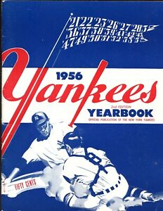 1956 New York Yankees Yearbook Blue Cover Variation EX