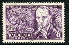 STAMP / TIMBRE FRANCE OBLITERE N° 908 / CELEBRITE / CHARLES BAUDELAIRE