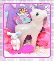 ❤️My Little Pony MLP G1 Style HQG1C Lovebound Flutter Sparkle Glitter Blank❤️