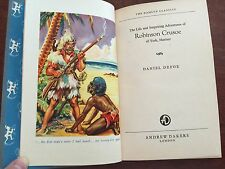 VTG Robinson Crusoe by Daniel Defoe,Ill. Hamlyn Classics Andrew Dakers,London HC