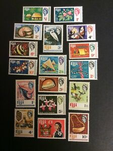 1968 Fiji set of 17 definitives with local views/motives.