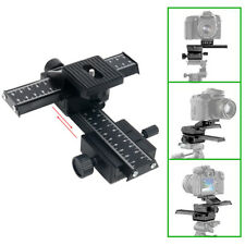 Pro Version 4 Way Macro Shot Focusing Focus Rail Metal Slider For DSLR Camera
