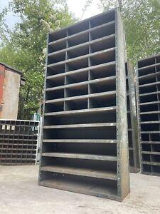 🏭 Vintage Antique Large Industrial Pigeon Hole Cabinet Shelving Racking 🏭