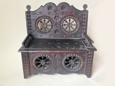 Antique French Brittany Miniature Settee - Box - seat opens