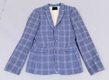 Asos Men's Wool Blend Check Super Skinny Suit Jacket AN3 Blue Size 36 NWT