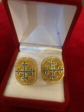 Sterling Silver 925 Cufflinks for Christian Clergy Handmade with Granada Stones