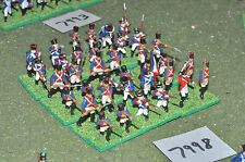 20mm napoleonic french infantry plastic 36 figures (7998) painted