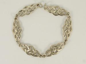 Celtic Bracelet Sterling Silver Ladies Stunning 925 8g Jr79