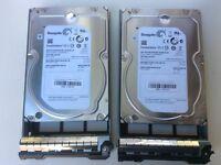 "Dell Poweredge 2.0TB SATA 6G 7.2K 3.5"" Hard Disk Drive w/ Caddy for R710 R810"