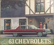 1963 Chevy Car Color and Upholstery Dealer Album Chevrolet Showroom Book