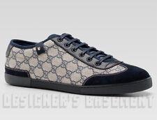 GUCCI Mens 15G* blue Supreme GG Plus suede BARCELONA Sneakers shoes NIB Authentc