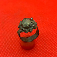 Beautiful Ancient Bronze Ring With A Stone