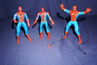 MARVEL TOY BIZ SPIDER-MAN SUPER POSEABLE WEB SINGLING ACTION FIGURES LOT OF 3