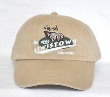 *LEWISTOWN MONTANA* Bull Elk Hunting Ball hat cap *CAMEO* embroidered