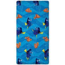 Draps-housses bleue pour le lit en 100% coton