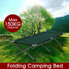 Folding Camping Bed Stretcher Light Weight Camp Portable w/ Carry Bag AU Stock