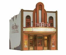 5054 Woodland Scenics Movie Theatre w/ Lighted Marquee Built Up Ho Scale